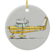 Cute Little Airplane Ceramic Ornament