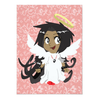 Cute Little Angel Girl Card
