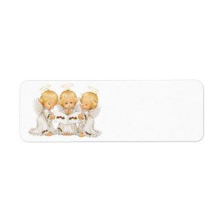 Cute little Angels Caroling Label