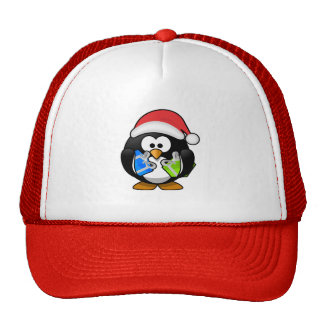 Cute little animated Christmas penguin Hat