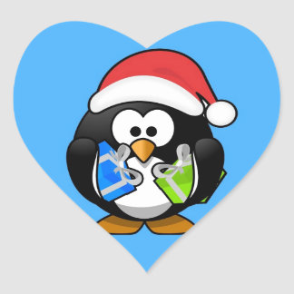 Cute little animated Christmas penguin Stickers