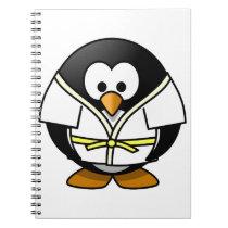 Cute little animated judo penguin notebook