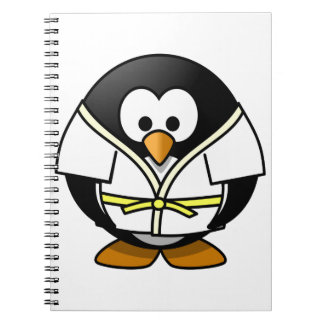 Cute little animated judo penguin notebook