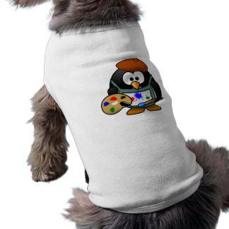 Cute little animated painter penguin T-Shirt
