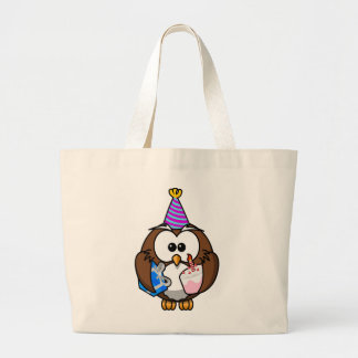 Cute little animated party owl bag