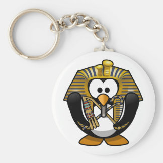 Cute little animated pharaoh penguin key chains