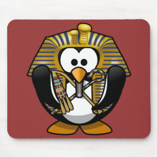 Cute little animated pharaoh penguin mousepad