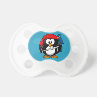 Cute little animated pirate penguin pacifier