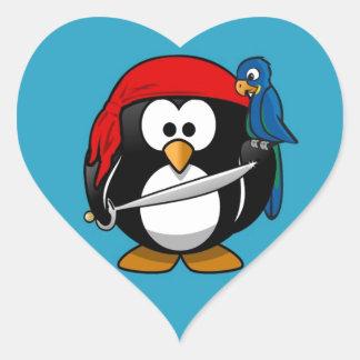 Cute little animated pirate penguin sticker