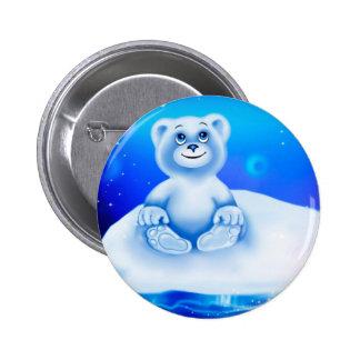 Cute, little animated polar bear button