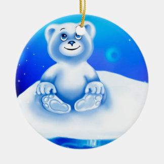 Cute, little animated polar bear ornaments