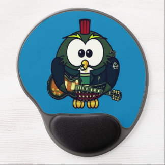 Cute little animated punk owl gel mouse pad