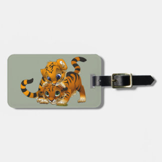 Cute little animated Tigers Bag Tag