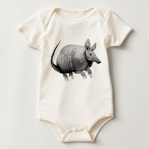 Cute Little Armadillo from Texas - Glaze Baby Bodysuit