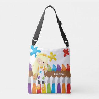 Cute Little Artist Crossbody Bag