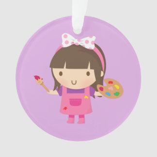 Cute Little Artist Painter Girls Room Decor Ornament