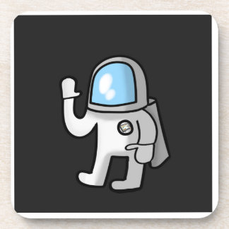 Cute Little Astronaut, Waving From Space Coaster