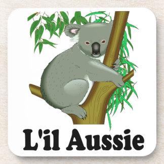 """Cute Little Australian Koala Bear """"L'il Aussie"""" Coaster"""