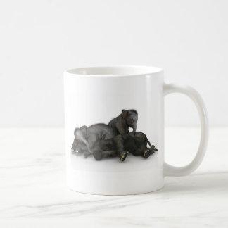 cute little baby elephants playing coffee mug