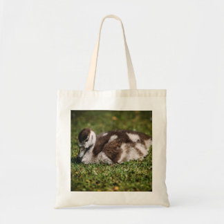 Cute Little Baby Goose, Gosling In Grass Tote Bag
