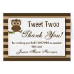 Cute Little Baby Owl | Baby Shower Thank You Card