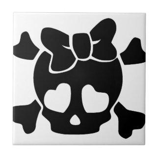Cute Little Baby Skull Ceramic Tile
