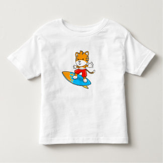 Cute Little Baby Tiger Cub Surfer  T-Shirt