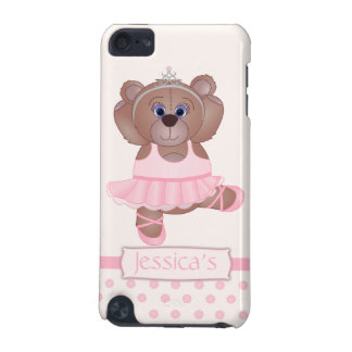 Cute Little Ballerina Cartoon Teddy Bear in Pink iPod Touch (5th Generation) Cover