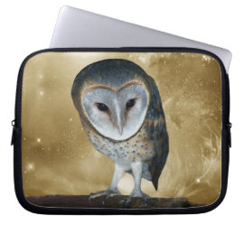 Cute little Barn Owl fantasy Computer Sleeves