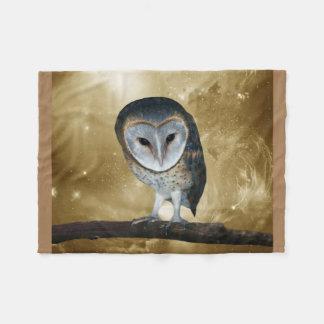Cute little Barn Owl fantasy Fleece Blanket