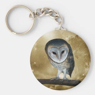 Cute little Barn Owl fantasy Keychains