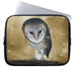 Cute little Barn Owl fantasy Laptop Computer Sleeves