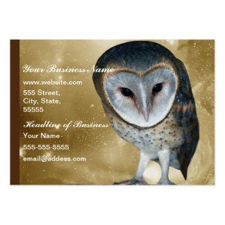 Cute little Barn Owl fantasy Large Business Card