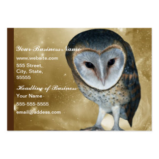 Cute little Barn Owl fantasy Large Business Cards (Pack Of 100)