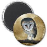 Cute little Barn Owl fantasy Magnet