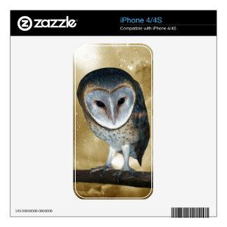Cute little Barn Owl iPhone 4S Skin