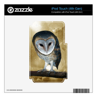 Cute little Barn Owl Skins For iPod Touch 4G