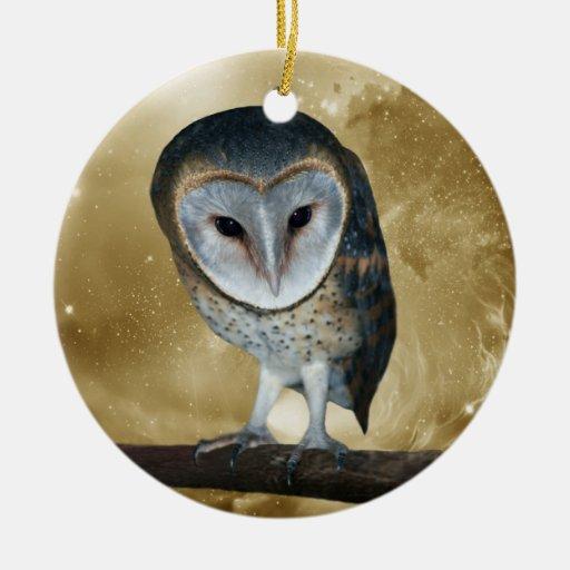 Cute little Barn Owlchristmas tree Christmas Tree Ornaments