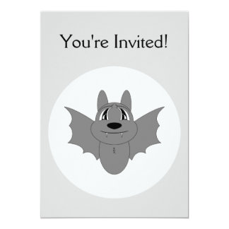 Cute Little Bat Custom Invite