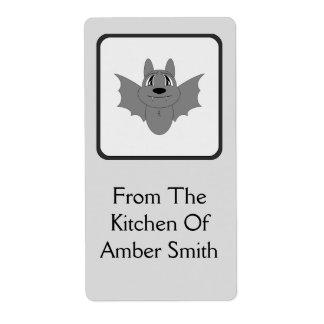 Cute Little Bat Custom Shipping Labels