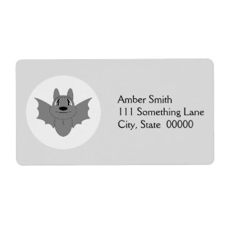 Cute Little Bat Personalized Shipping Labels