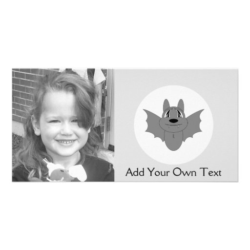 Cute Little Bat Photo Cards