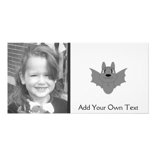 Cute Little Bat Personalized Photo Card