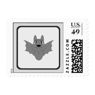 Cute Little Bat Postage Stamps