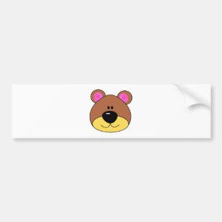 Cute Little Bear Face Car Bumper Sticker