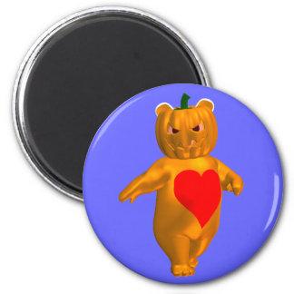 Cute Little Bear With Pumpkin Head Magnet