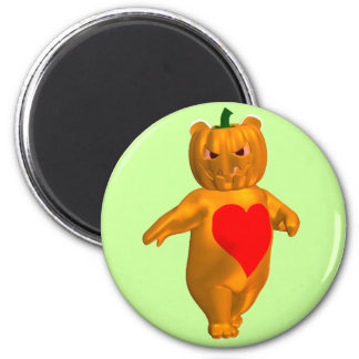 Cute Little Bear With Pumpkin Head Magnet