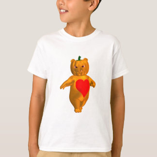Cute Little Bear With Pumpkin Head T-Shirt