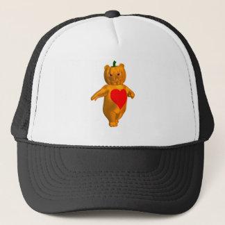 Cute Little Bear With Pumpkin Head Trucker Hat