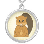 Cute Little Beaver Cartoon Animal Personalized Necklace